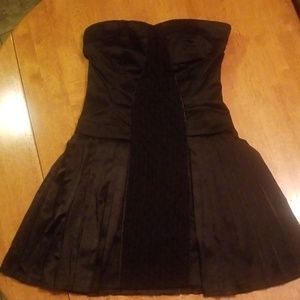 Bebe strapless black pleated dress  size 4